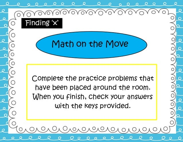 Math on the Move:Combining Like Terms and Distributive Property
