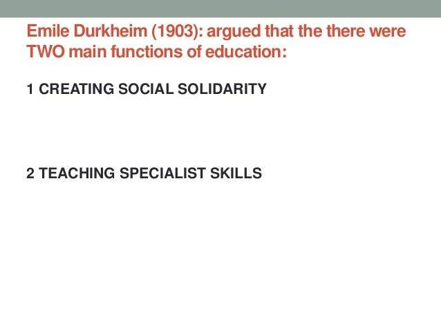 emile durkheim's notion of social solidarity Law and social theory essay durkheim  s emile durkheim:  one of the major uses of the law as an index of social solidarity in durkheim's early.