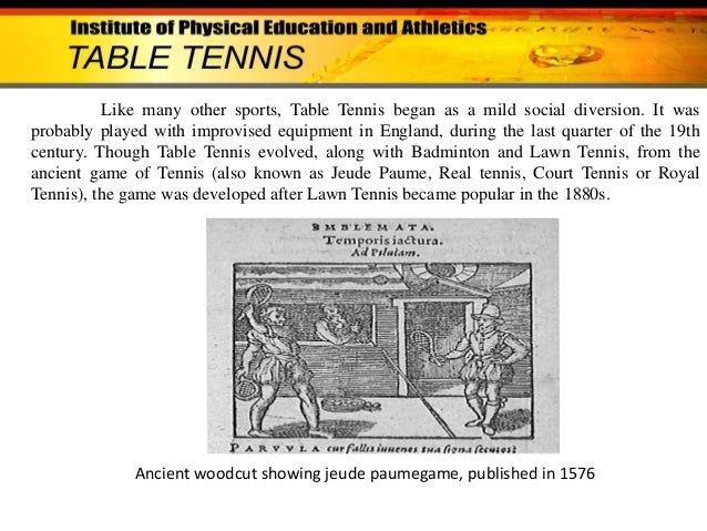 what is table tennis history