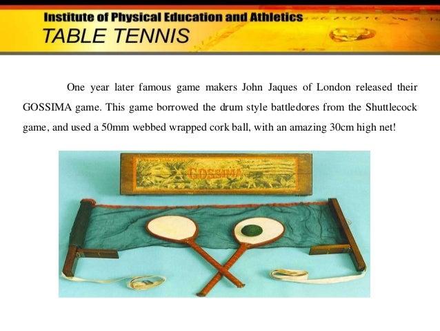 Essay on Table Tennis