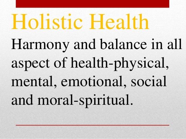 FIVE DIMENSIONS OF HOLISTIC HEALTH