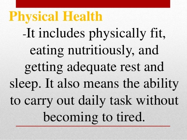 • To keep the body and mind energized eat nutritious food • To prevent eating disorder never skip meals or overeat.