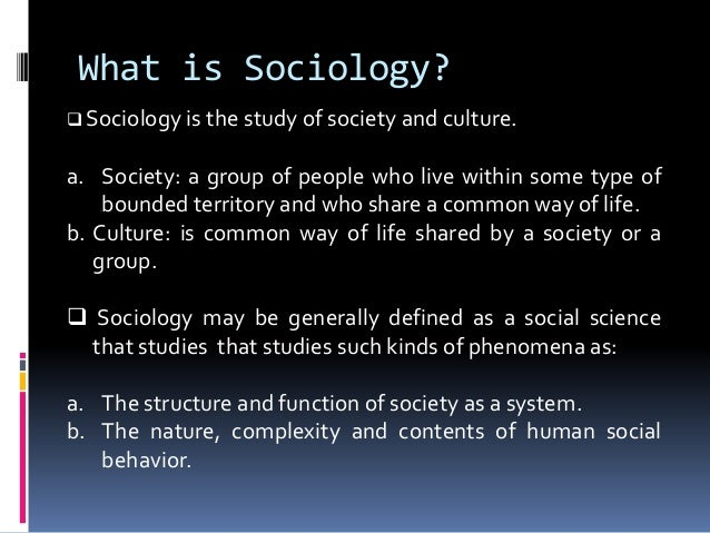 an introduction to the definition of sociology Introduction family: critical concepts in sociology, london, routledge, vol   j (1995) collins dictionary of sociology (2nd edn), glasgow, harper collins.