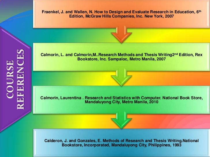 Methods of research and thesis writing book by calderon