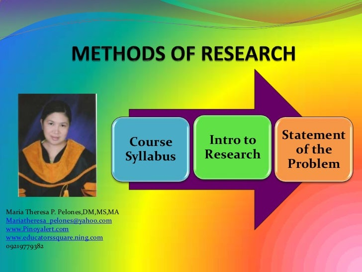 methods of research and thesis writing by calderon and gonzalez pdf