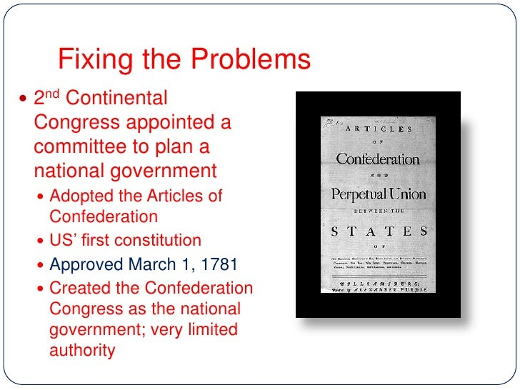 THE DBQ: THE ARTICLES OF CONFEDERATION