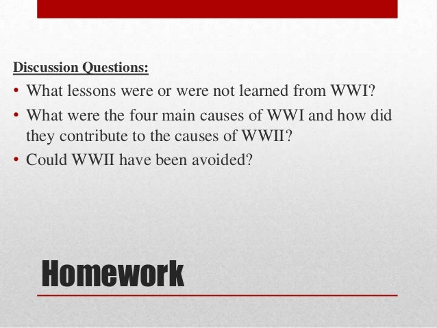Lesson 1 Causes of WWII