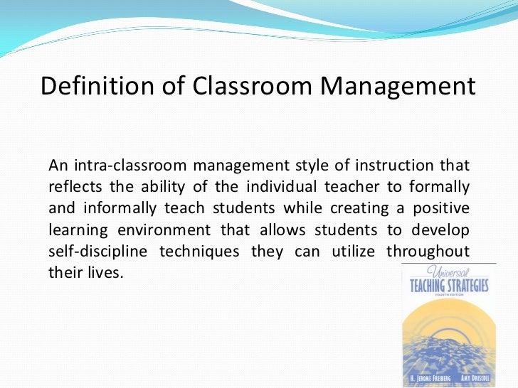 developing strategies in assessment classroom management Classroom and behavior management (mild/moderate) and strategies for classroom behavior management, social skills development, assessment of social behavior.