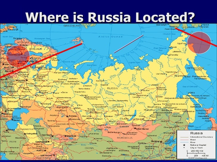 Lesson Russia - Where is russia located
