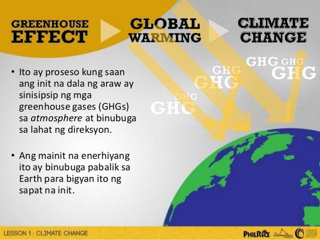 ang epekto ng climate change essay tagalog