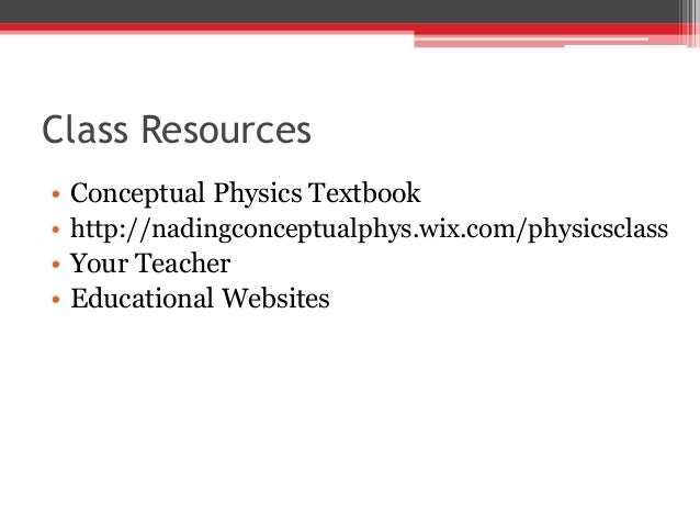 Conceptual Physics Syllabus