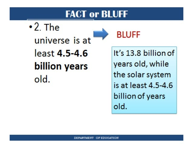 Grade 11 earth life science lesson 1 fact or bluff department of education fandeluxe Images