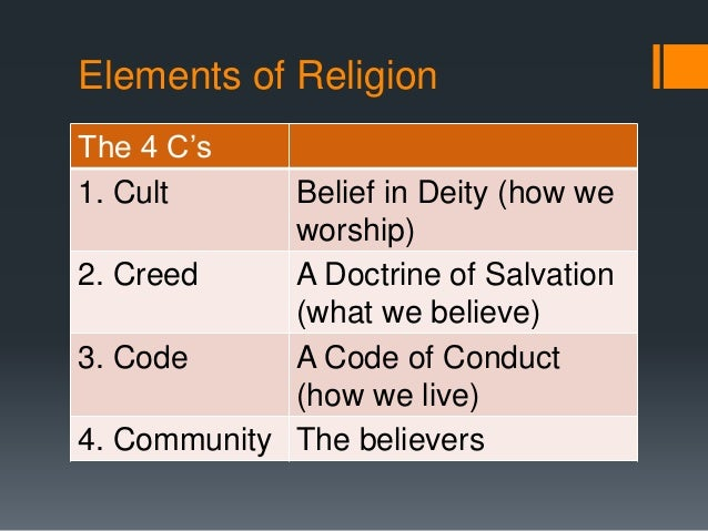 code creed and community religious