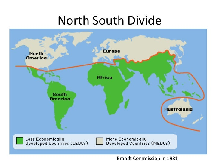 brandt line The brandt line is a visual depiction of the north-south divide between their  economies, based on gdp per capita, proposed by.