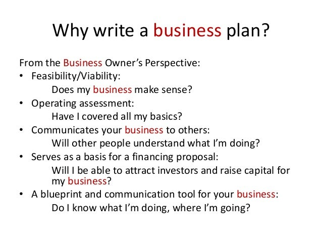 elements of business plan model