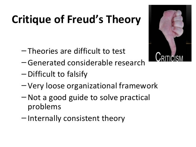 an analysis of freudian theory Psychoanalytic criticism psychoanalytic criticism adopts the methods of reading employed by freud and later theorists to interpret texts it argues that literary texts, like dreams, express the secret unconscious desires and anxieties of the author, that a literary work is a manifestation of the author's own neuroses.
