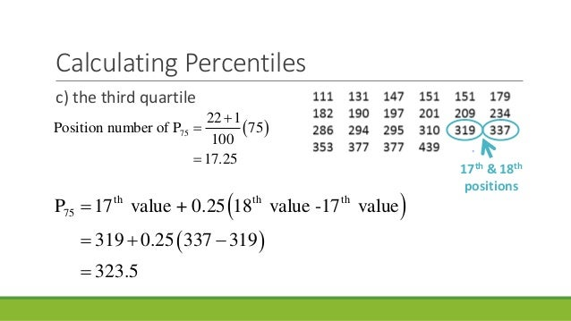 Lesson 2 percentiles