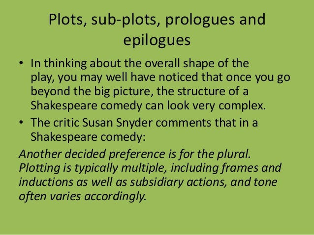 shakespearean comedy structure