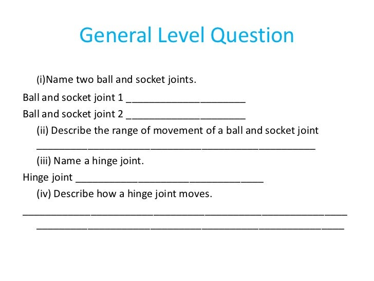 Lesson 2 tendons ligaments cartilage and joints – Joints and Movement Worksheet
