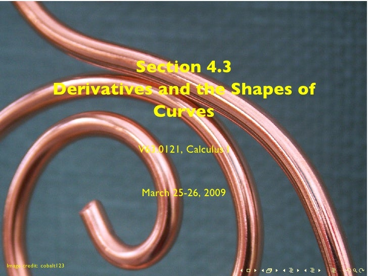 Section 4.3                   Derivatives and the Shapes of                              Curves                           ...