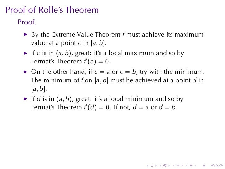 rolle's theorem statement