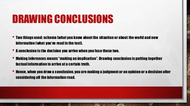 Lesson 21 - Drawing Conclusions