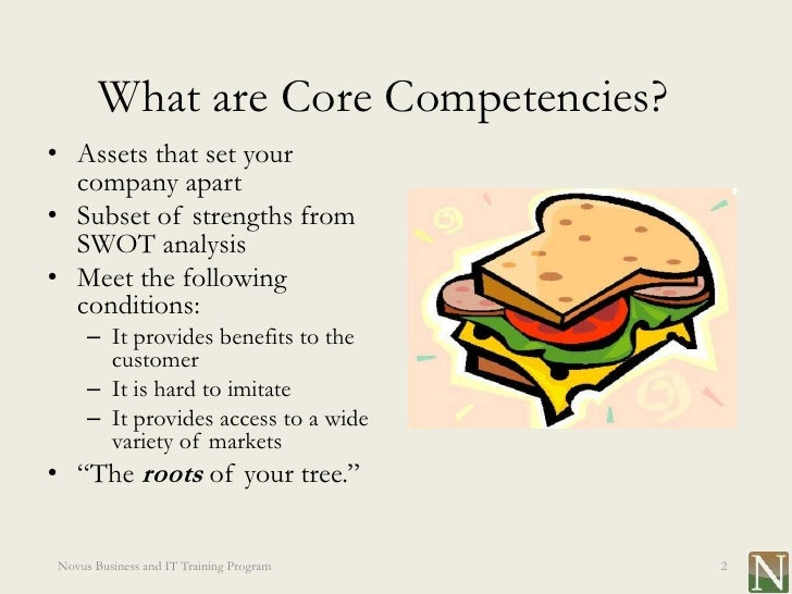 core capabilities business plan