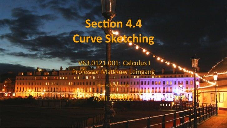 Lesson 21: Curve Sketching (slides)