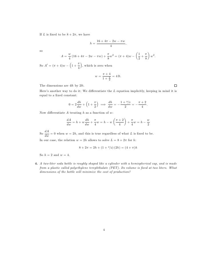 Worksheets Application Of Optimization  Work Sheet With Solution collection of optimization worksheet sharebrowse lesson 24 solutions