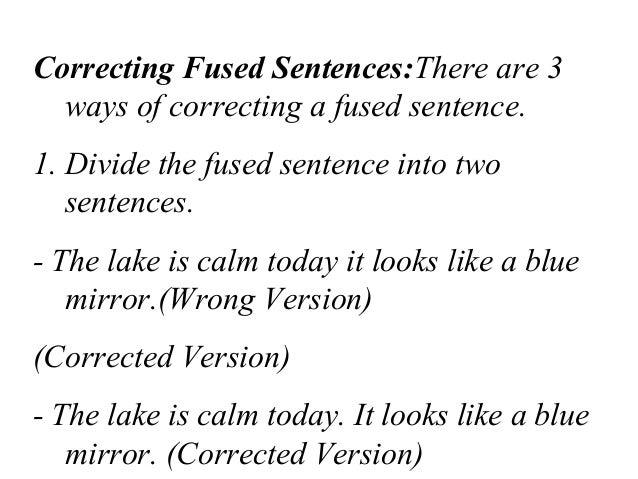 fused sentence