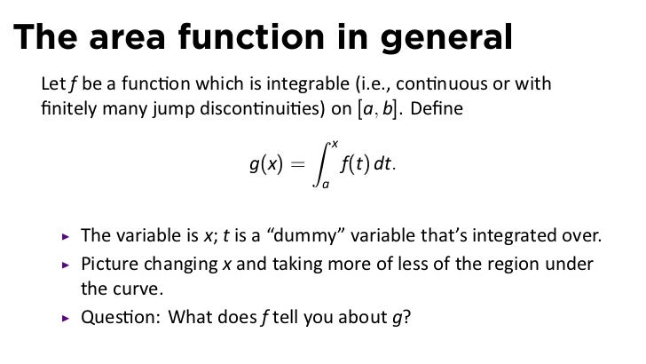 Dummy Variable: Fundamental Theorem Of Calculus Dummy Variable