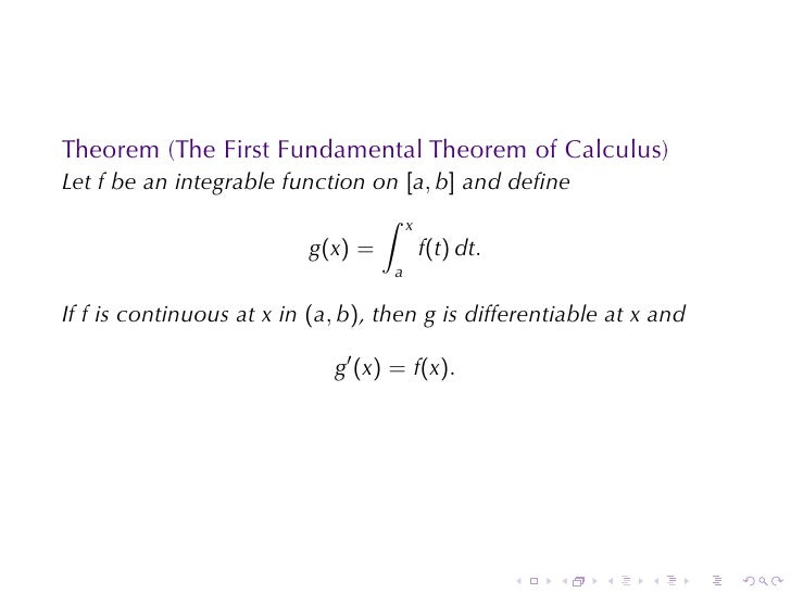 Lesson 26: The Fundamental Theorem of Calculus (Section 4 version)