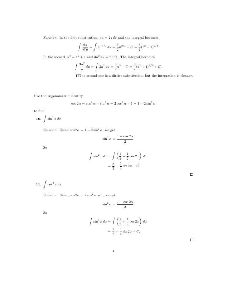 u substitution worksheet Termolak – U Substitution Worksheet