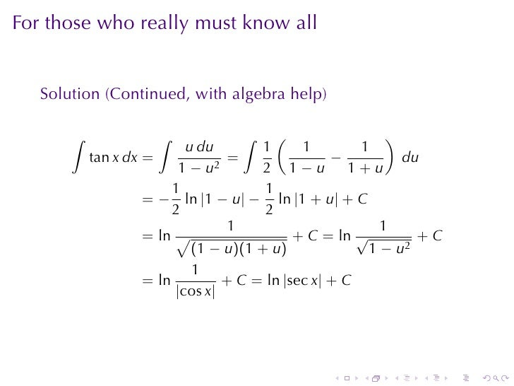 Lesson 29 Integration By Substition Worksheet Solutions