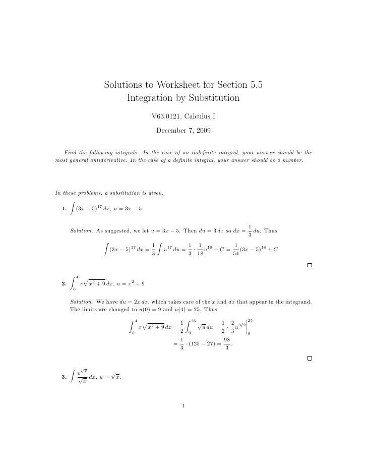 Antiderivative Worksheet – Antiderivative Worksheet