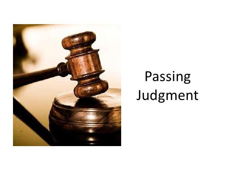 PassingJudgment