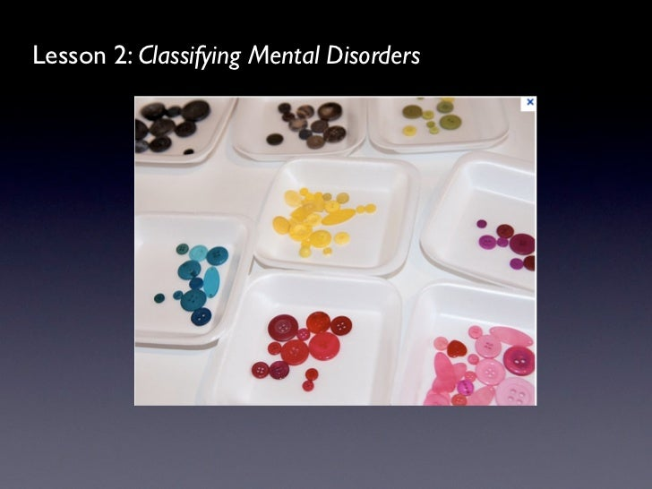Lesson 2: Classifying Mental Disorders