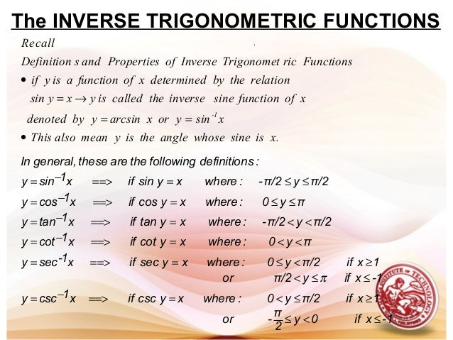 Lesson 2 Derivative Of Inverse Trigonometric Functions