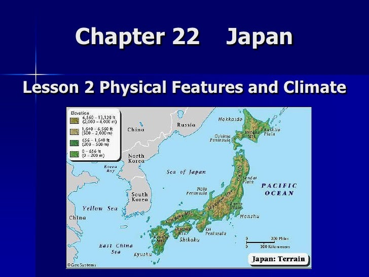 Lesson 2 Japan Physical Features And Climate