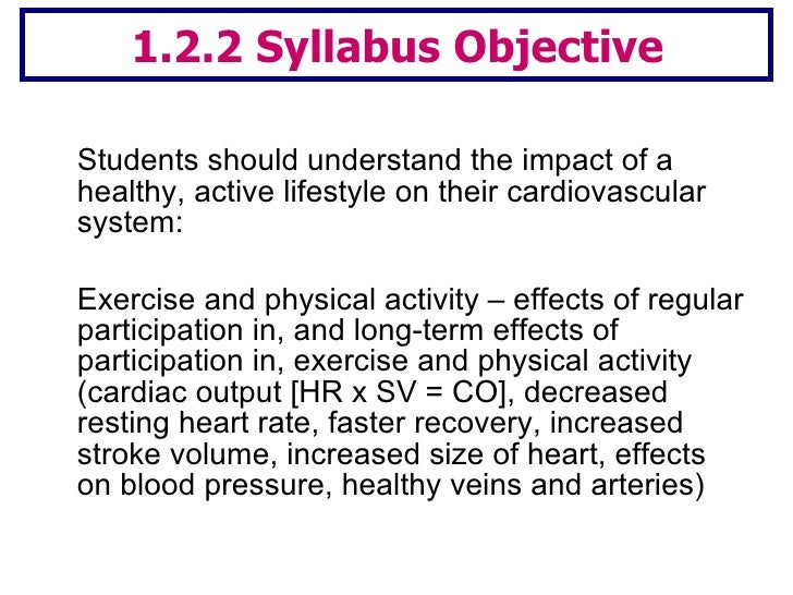 Lesson 2 long term effects of exercise Slide 2