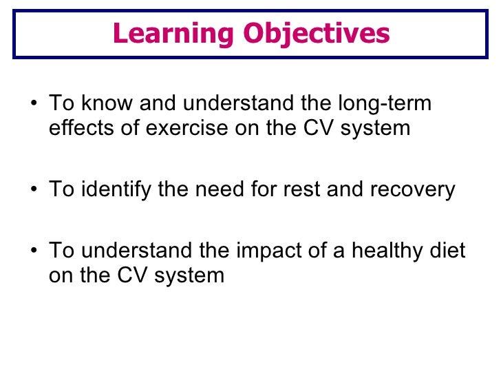 Lesson 2 long term effects of exercise Slide 3
