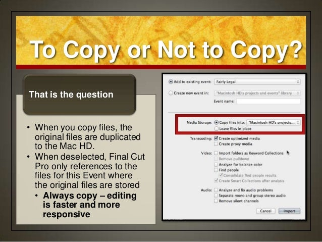 how to make notes in final cut