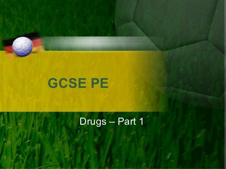 GCSE PE Drugs – Part 1