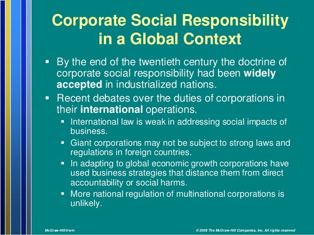corporate social responsibility and global reporting We seek to add to the corporate social responsibility (csr) and sustainable  development (sd) literature through the empirical study of latin.
