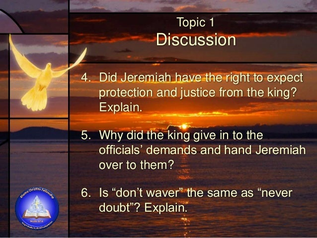 Topic 1 Discussion 7. Can we (or should we) expect our government to back us up and support our religious rights and freed...