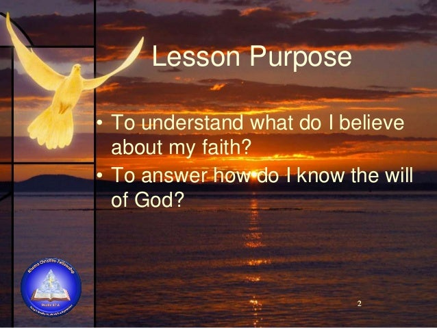 Lesson Impact These lessons can lead you to persevere in serving God regardless of the cost and outcome.