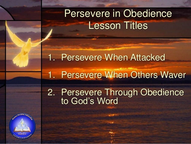Persevere When Others Waver Lesson 2 Jeremiah 38:4-6