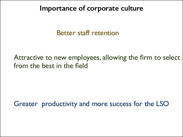 importance of corporate culture