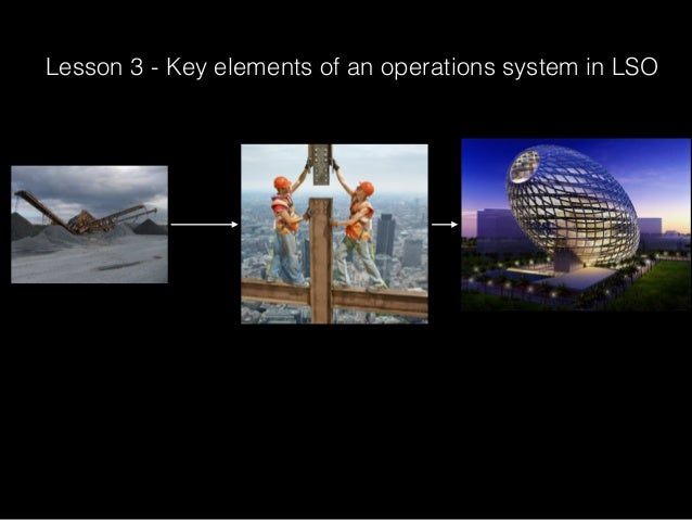 Lesson 3 - Key elements of an operations system in LSO