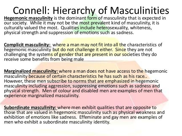 what are some examples of concepts or constructions of masculinity and femininity in society and in  What are some examples of concepts or constructions of masculinity and femininity that you see in society and in what are some social and political issues.